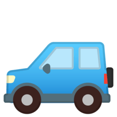 Sport Utility Vehicle Emoji on Google Android and Chromebooks