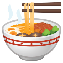 Steaming Bowl Emoji on Google Android and Chromebooks