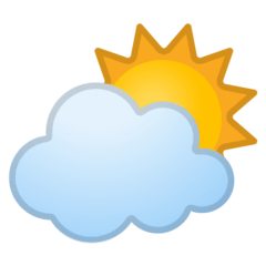 Sun Behind Cloud Emoji on Google Android and Chromebooks