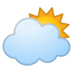 Sun Behind Large Cloud Emoji on Google Android and Chromebooks