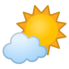 Sun Behind Small Cloud Emoji on Google Android and Chromebooks
