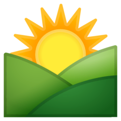 Sunrise Over Mountains Emoji on Google Android and Chromebooks