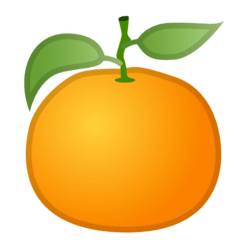 Tangerine Emoji on Google Android and Chromebooks