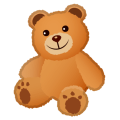 Teddy Bear Emoji on Google Android and Chromebooks