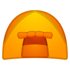 Tent Emoji on Google Android and Chromebooks