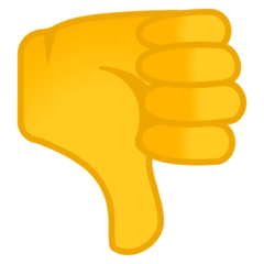 Thumbs Down Emoji on Google Android and Chromebooks