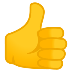 Thumbs Up Emoji on Google Android and Chromebooks
