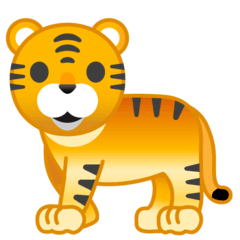 Tiger Emoji on Google Android and Chromebooks