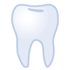 Tooth Emoji on Google Android and Chromebooks