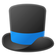 Top Hat Emoji on Google Android and Chromebooks