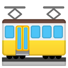 Tram Car Emoji on Google Android and Chromebooks
