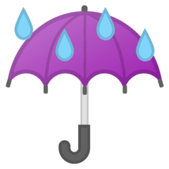 Umbrella With Rain Drops Emoji on Google Android and Chromebooks