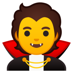 Vampire Emoji on Google Android and Chromebooks