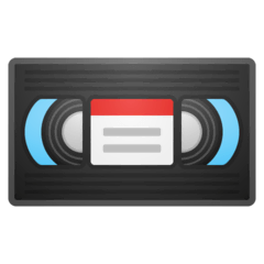 Videocassette Emoji on Google Android and Chromebooks