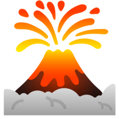 Volcano Emoji on Google Android and Chromebooks