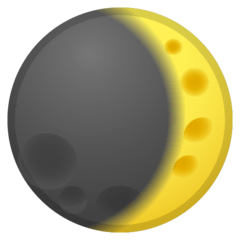 Waxing Crescent Moon Emoji on Google Android and Chromebooks