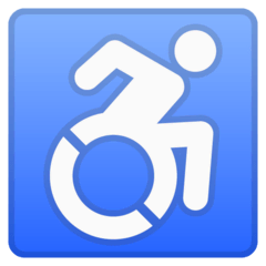 Wheelchair Symbol Emoji on Google Android and Chromebooks