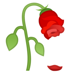 Wilted Flower Emoji on Google Android and Chromebooks