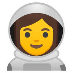 Woman Astronaut Emoji on Google Android and Chromebooks