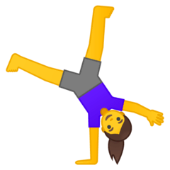 Woman Cartwheeling Emoji on Google Android and Chromebooks