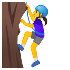 Woman Climbing Emoji on Google Android and Chromebooks