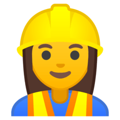 Woman Construction Worker Emoji on Google Android and Chromebooks