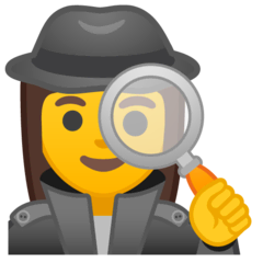Woman Detective Emoji on Google Android and Chromebooks