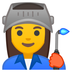 Woman Factory Worker Emoji on Google Android and Chromebooks