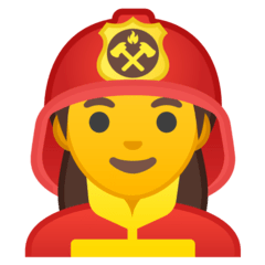 Woman Firefighter Emoji on Google Android and Chromebooks