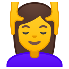Woman Getting Massage Emoji on Google Android and Chromebooks