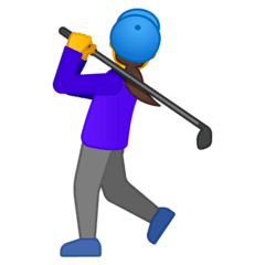 Woman Golfing Emoji on Google Android and Chromebooks