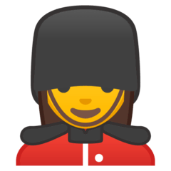 Woman Guard Emoji on Google Android and Chromebooks