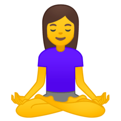 Woman In Lotus Position Emoji on Google Android and Chromebooks