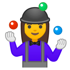 Woman Juggling Emoji on Google Android and Chromebooks