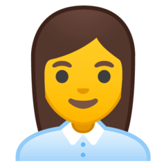 Woman Office Worker Emoji on Google Android and Chromebooks