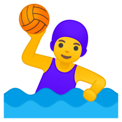Woman Playing Water Polo Emoji on Google Android and Chromebooks