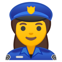 Woman Police Officer Emoji on Google Android and Chromebooks
