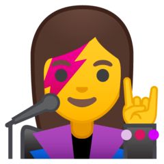 Woman Singer Emoji on Google Android and Chromebooks