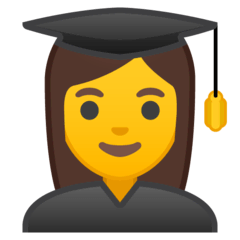 Woman Student Emoji on Google Android and Chromebooks