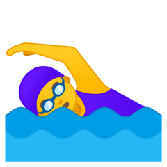 Woman Swimming Emoji on Google Android and Chromebooks