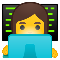 Woman Technologist Emoji on Google Android and Chromebooks