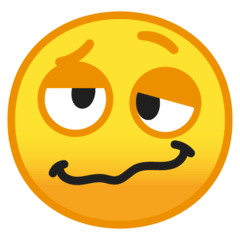 Woozy Face Emoji on Google Android and Chromebooks