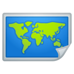 World Map Emoji on Google Android and Chromebooks