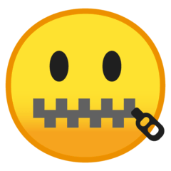 Zipper-Mouth Face Emoji on Google Android and Chromebooks