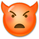 Angry Face With Horns Emoji on LG Phones
