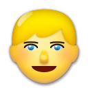Blond-Haired Person Emoji on LG Phones