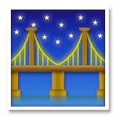 Bridge at Night Emoji on LG Phones