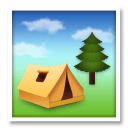 Camping Emoji on LG Phones
