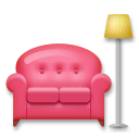 Couch and Lamp Emoji on LG Phones