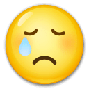 Crying Face Emoji on LG Phones